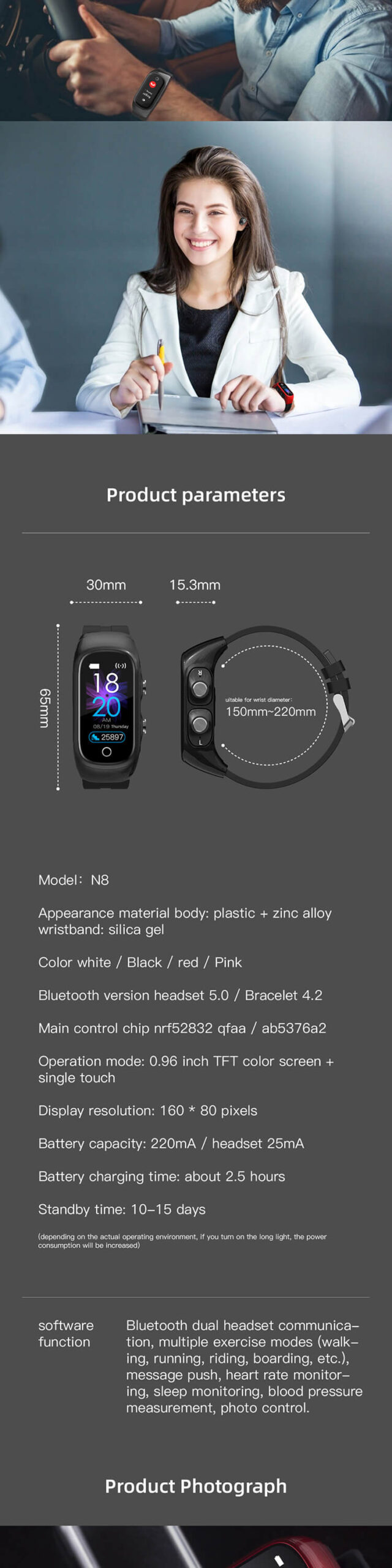 Smartwatch With Built In Earbuds 7