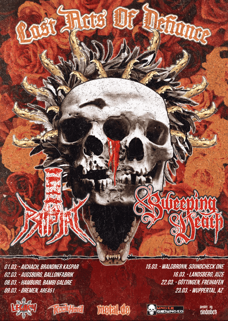 Last Acts Of Defiance Tour 2019 Sweeping Death Pripjat