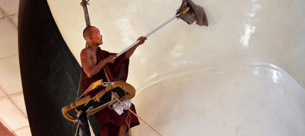 mopping monk