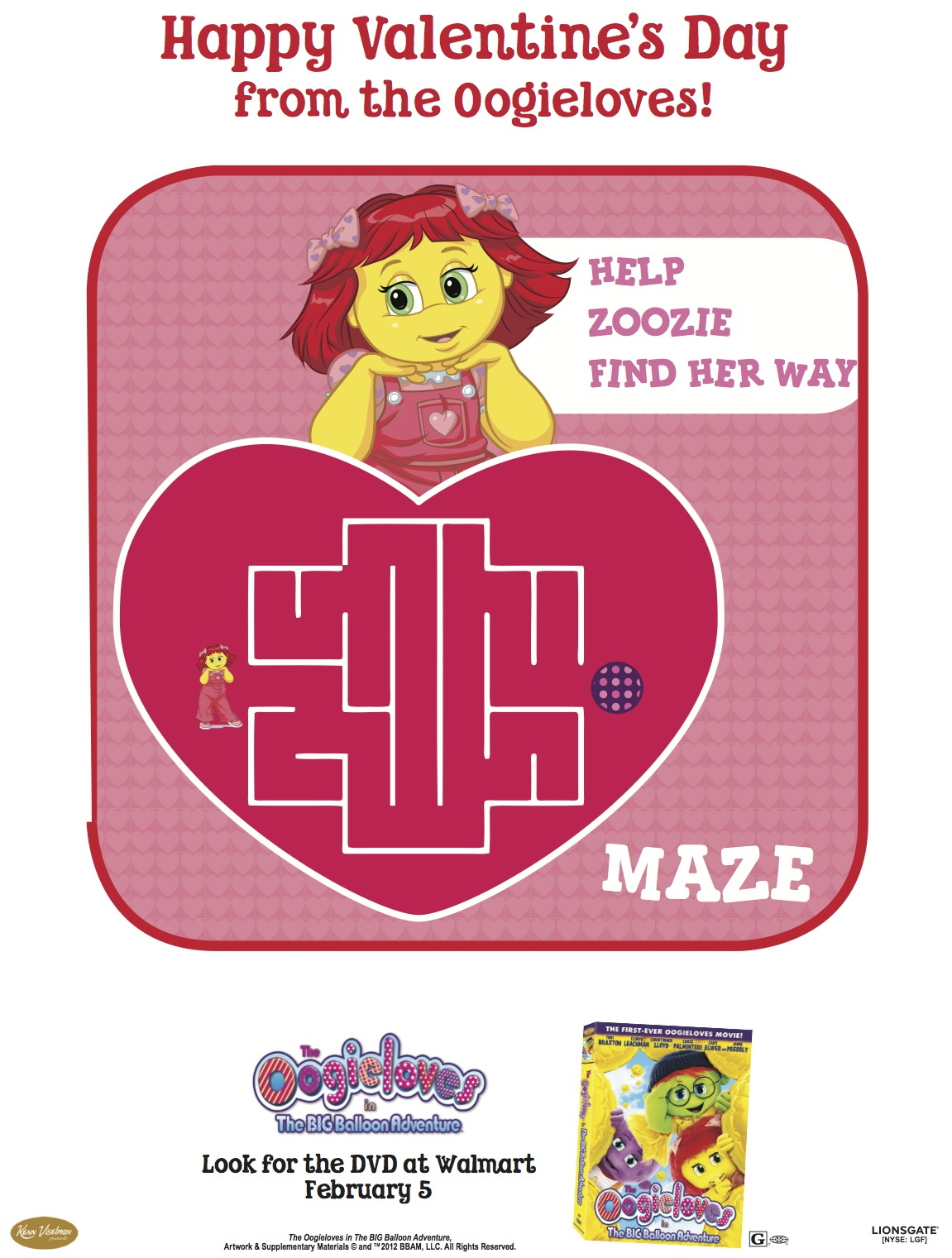 Oogieloves Printable Valentine S Day Maze