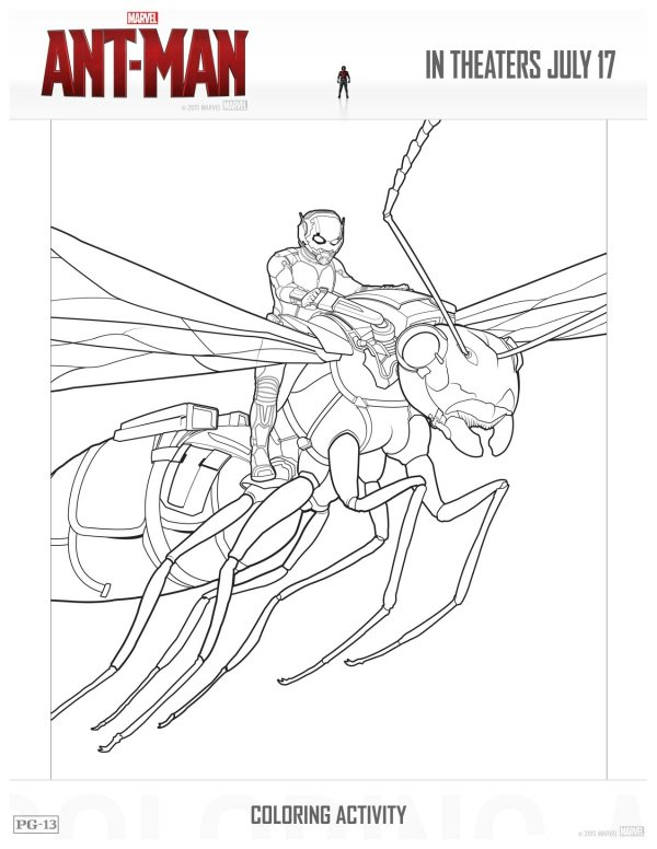 free marvel antman printable coloring page  mama likes this