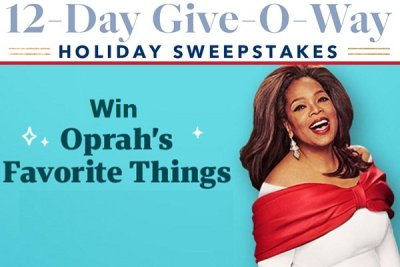 Oprah.com 12 Days Giveaway 2020: Win Her All Favorite Things