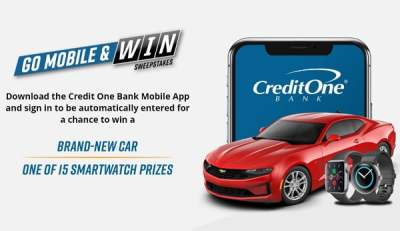 Credit One Bank Go Mobile and Win Sweepstakes