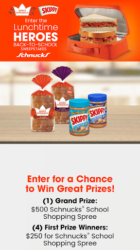 Lunchtime Heroes Back To School Sweepstakes