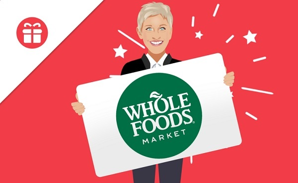 Ellen Whole Foods Gift Card Sweepstakes