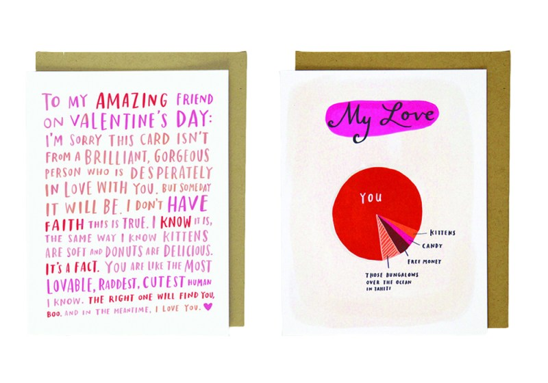 Amazing Friend Card and My Love Pie Chart Card by Emily McDowell