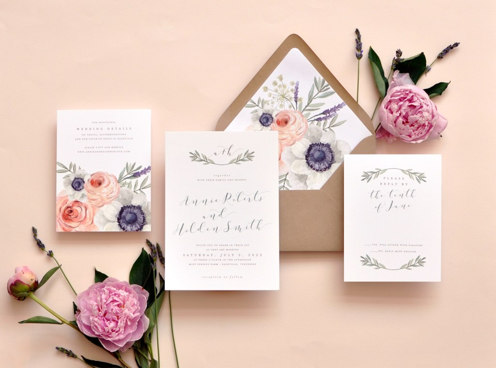 Floral Wedding Invitations We Love!