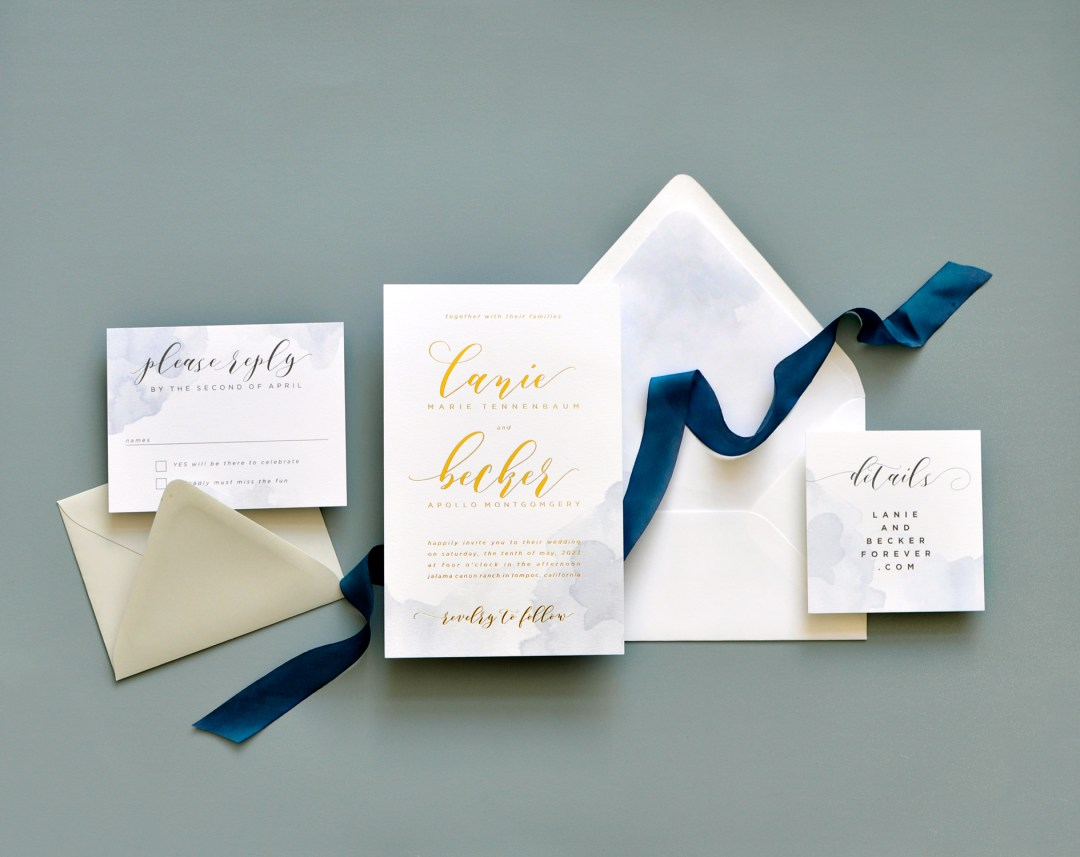 Wedding Invitations by Smitten on Paper