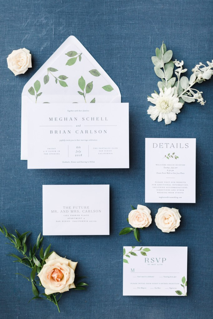 Modern + Organic Wedding Invitations