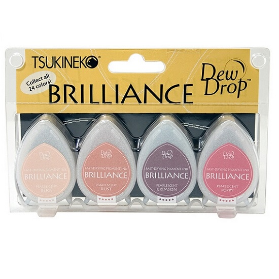Brilliance Dew Drop Ink Pads: Painters Palette