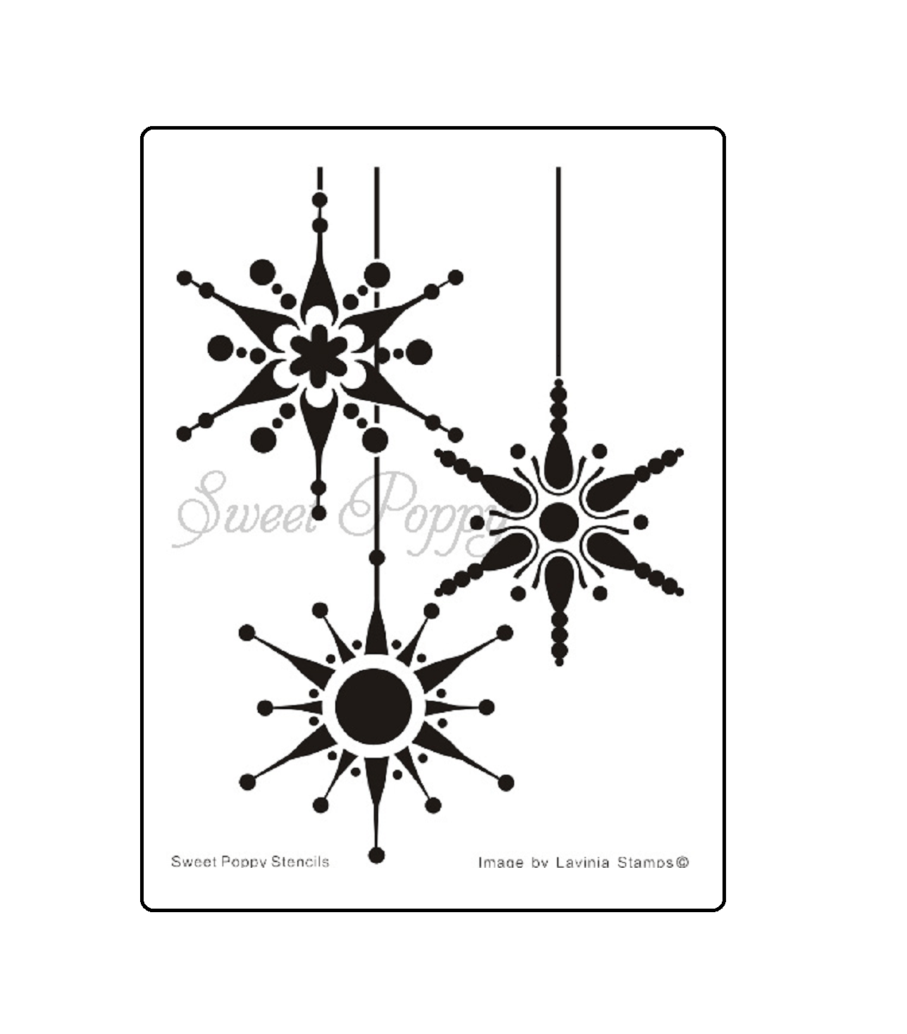 Sweet Poppy Stencil: Snowflake Bauble