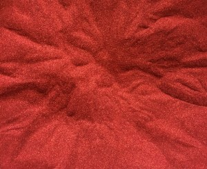 Sweet Poppy Stencil: Satin Glitters Fire Red