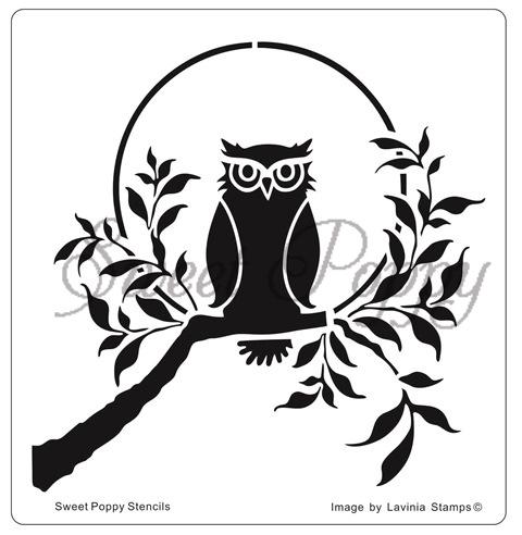 Sweet Poppy Stencil: Owl