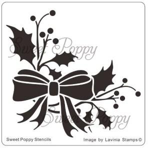 Sweet Poppy Stencil: Holly Sprig