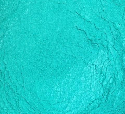 Sweet Poppy Stencil: Mica Powder Turquoise