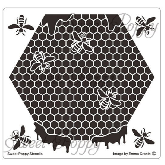 Sweet Poppy Stencil: Honeybee Hive