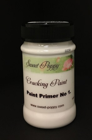 Sweet Poppy Cracking Paint: Paint Primer No1 – 100ml