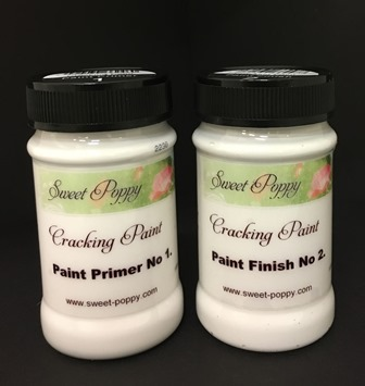 Sweet Poppy Cracking Paint: Paint System 1 & 2 – 100ml