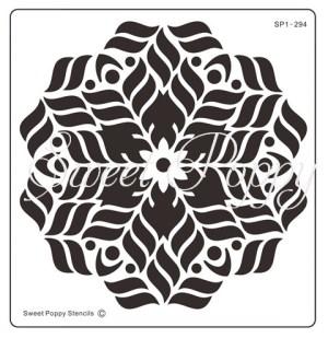 Sweet Poppy Stencil: Floral Mandala