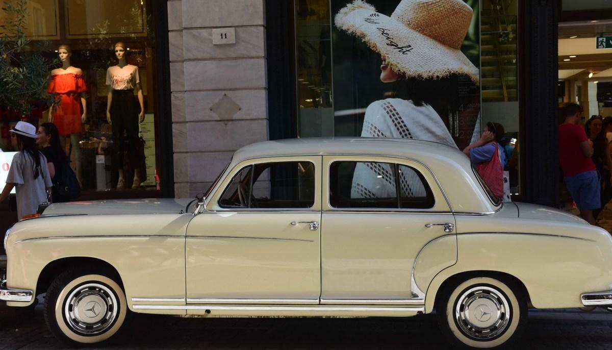 Vintage car athens