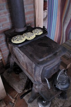 Wood stove cooking, 2011