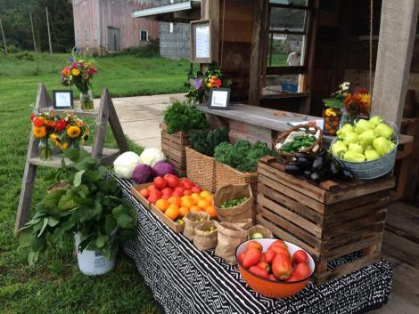 Summer farm stand