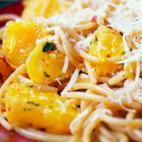 Spaghetti z pomarańczą i chilli / Spaghetti with orange and chilli