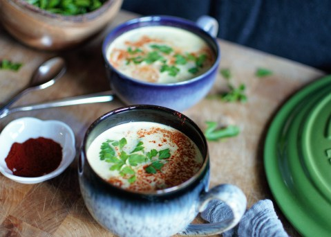 Smokey Cream of Lentil and Bacon Soup
