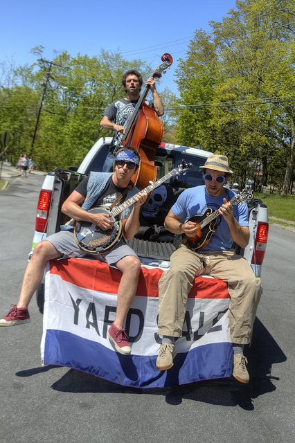 Local band Yard Sale added to the merriment