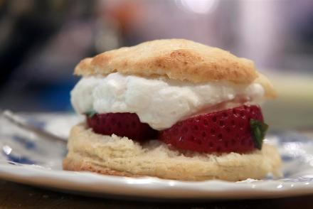 Strawberry Basil Shortbread - Sweet and Savoring