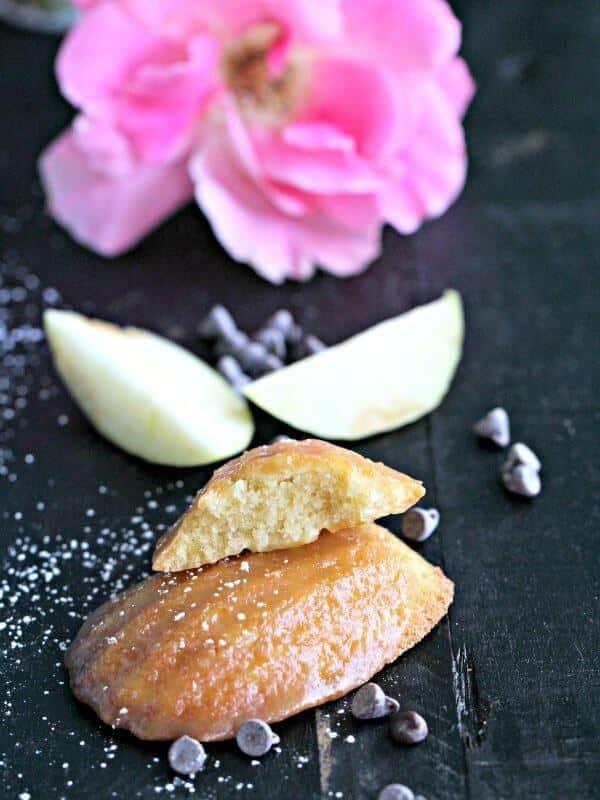 Salted Caramel Apple Madeleines