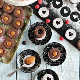 Chocolate Linzer Cookies