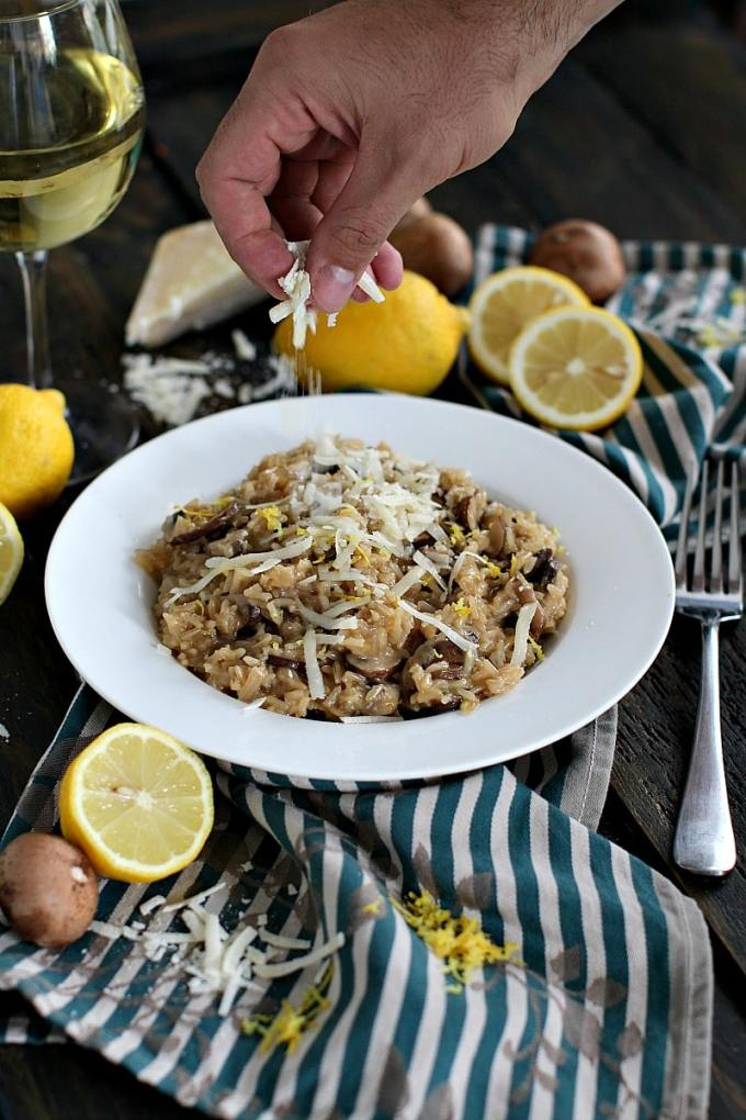 Brown Rice Risotto made with white wine