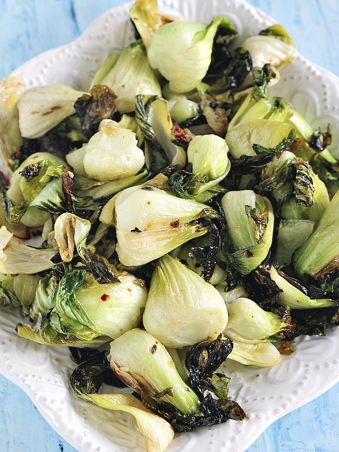 Oven Roasted Bok Choy