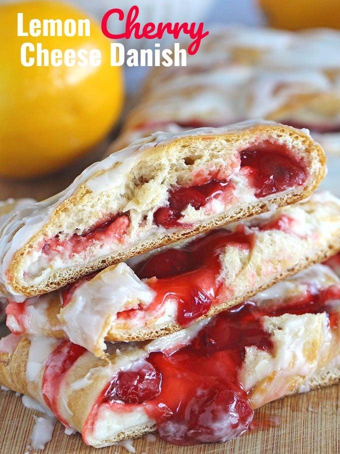 Lemon Cherry Cheese Danish Recipe
