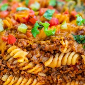 Loaded Cheeseburger Casserole