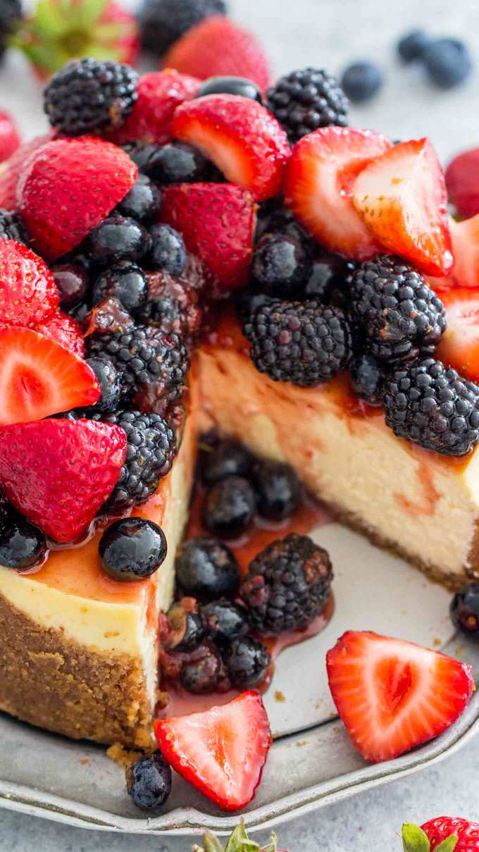 Best Instant Pot Cheesecake with Berries