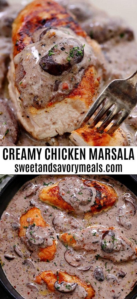 Best Easy Creamy Chicken Marsala