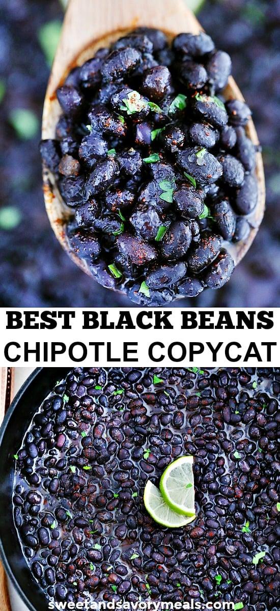 Easy Chipotle Black Beans Copycat Recipe