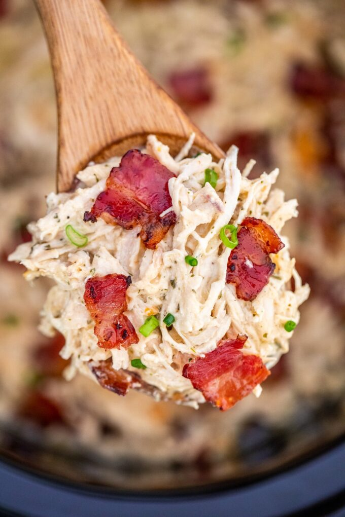 Slow cooker crack chicken recipe