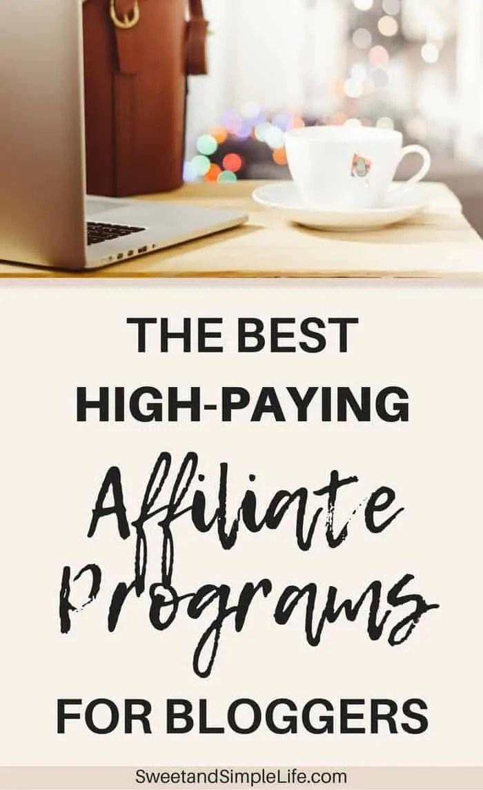 Best affiliate programs for bloggers