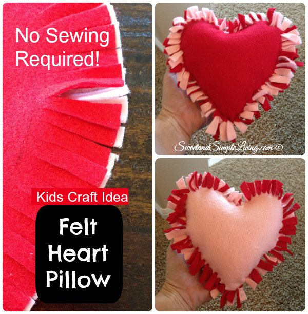 DIY Felt Heart Craft Idea No Sewing Required Sweet And