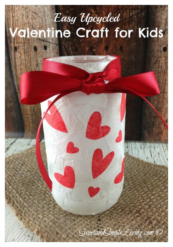 Valentine Crafts For Kids Upcycled Votive Holder