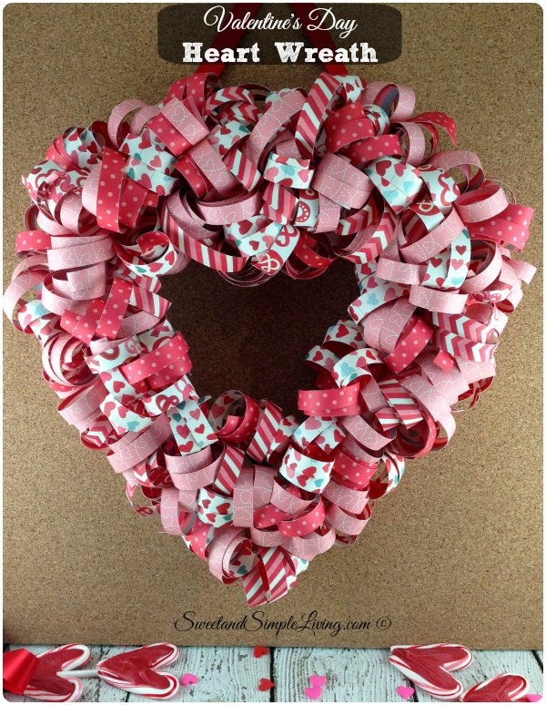 Valentines Day Heart Wreath With FREE Tutorial