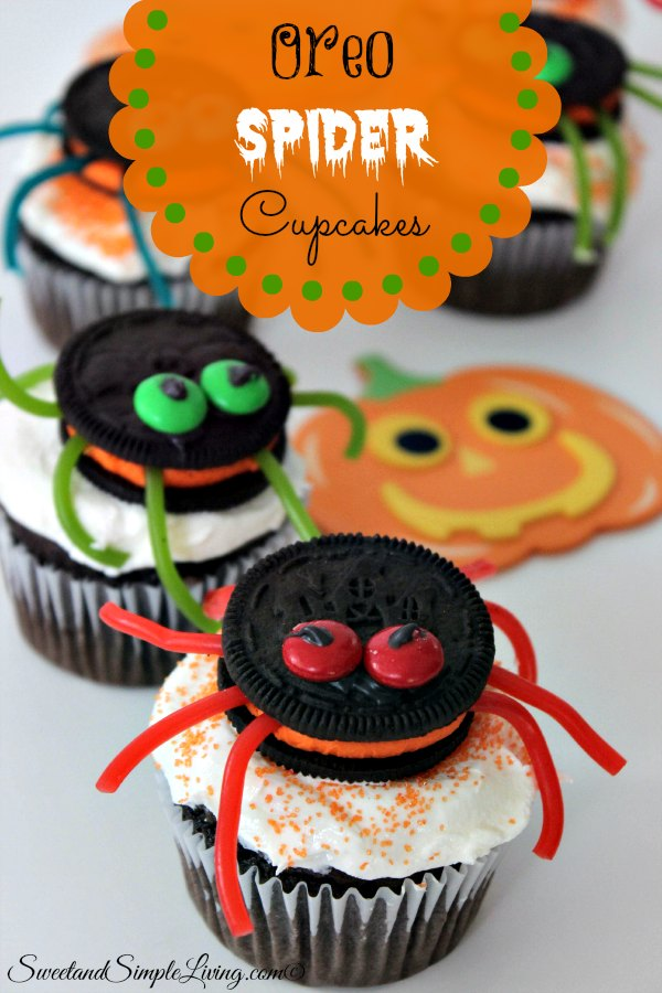 Oreo Spider Cupcakes Sweet And Simple Living