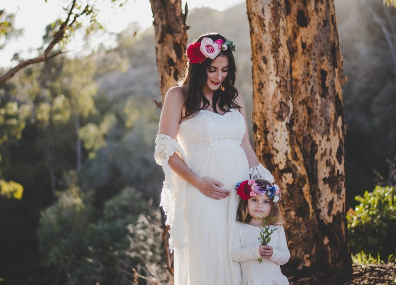 Mommy and Me floral crowns and Molly Dillon Photography