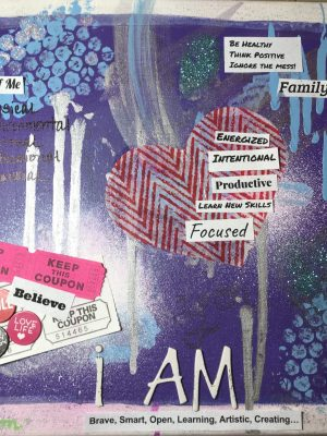 "Step 3... ""i am"" vision board at Sweetandspicyessentials.com"