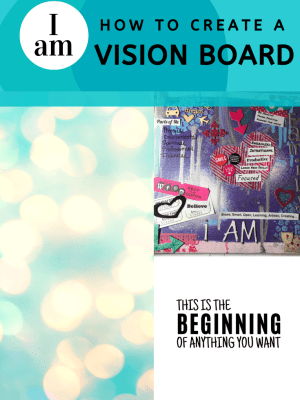 How to Create a Vision Board, I am Board, Dream Board by sweetandspicyessentials.com