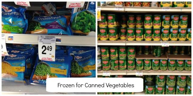 Food Swaps Vegetables