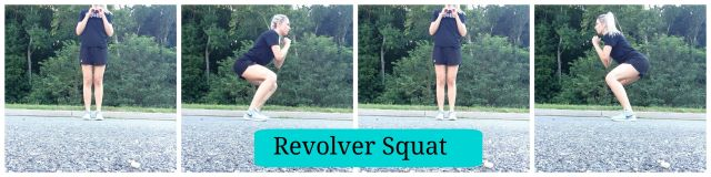 5 Squat Variations you need to try, Revolver squat
